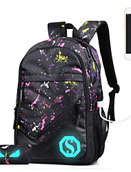 Sports Casual Outdoor Backpack Unisex Polyester White Purple Green Burgundy