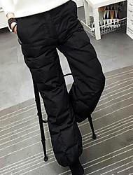 Hommes Petites Tailles Boot Cut Chino Pantalon,simple Décontracté / Quotidien Couleur Pleine Taille Normale Cordon Elasticité Polyester