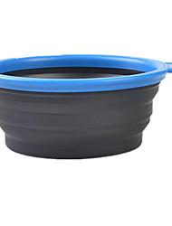Chat Chien Bols & Bouteilles d'eau Animaux de Compagnie Bols & alimentation Portable Pliable Rouge Vert Bleu Pourpre Silicone