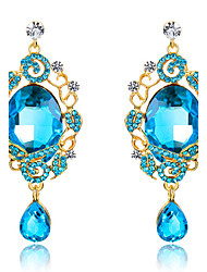 Drop Earrings Sapphire Crystal Sexy Drop Blue Jewelry Wedding Party Daily 1 pair
