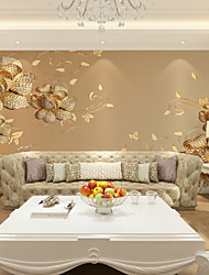JAMMORY 3D Wallpaper For Home Contemporary Wall Covering Canvas Material Gold Diamond Flower XL XXL XXXL