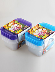 4 PCS PP Plastic Home Food Containers for Storage