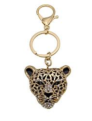 Europe and the United States a leopard head Keychain diamond key buckle