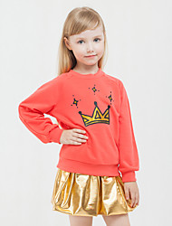 Girls Fashion Europe The United  Autumn/Winter Sports Skirts Cartoon Design Two-Piece Outfit
