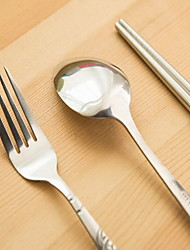 Stainless Steel 304 Set Spoons Forks Chopsticks Single