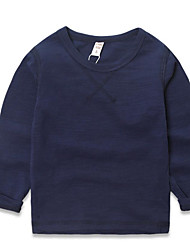 Boy Casual/Daily Solid Tee,Rayon Spring