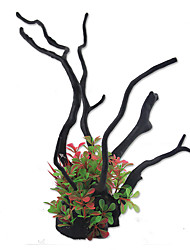 Aquarium Decoration Artificial Plant Resin Red/Green
