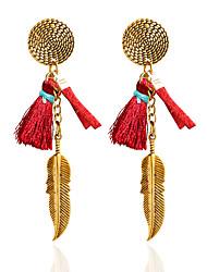 Drop Earrings Hoop Earrings Earrings Set Jewelry Women Wedding Party Casual Alloy 1 pair Black White Red