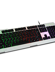 Three colors partition backlit gaming keyboard_wired keyboard gaming