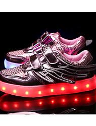 Fille-Extérieure Sport-Rose Argent Or-Talon Plat-Confort-Chaussures d'Athlétisme-Polyuréthane
