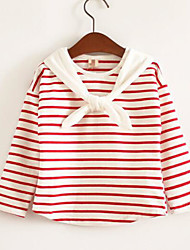 Girl Casual/Daily Solid Tee,Cotton Blend Spring Fall