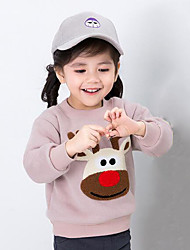 Girl Casual/Daily Color Block Hoodie & Sweatshirt,Cotton Spring Fall
