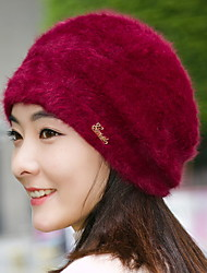 The New Winter Rabbit Rabbit Ear Hat Beret Warm Winter Hat Letter