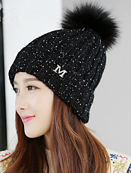 The New M Standard Wool Warm Wool Hat Ms. Fashionable Outdoor Knitted Hat