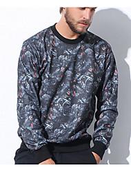 Sweatshirt Hommes Décontracté / Quotidien Imprimé Col Arrondi Non Elastique Coton Manches Longues Printemps Automne