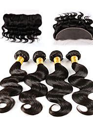 5 Stück Große Wellen Menschliches Haar Webarten Indisches Haar 100g or 50-75g 8-30inch Haarverlängerungen