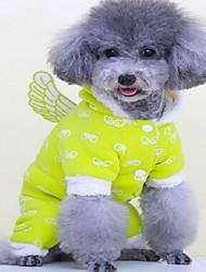 Dog Coat Dog Clothes Winter Solid Cute