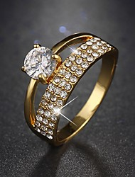 Ring Shining AAA Cubic Zirconia Wedding / Party / Casual Jewelry for Bride Wedding Ring