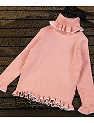 Girl Casual/Daily Solid Sweater & Cardigan,Knitwear Winter Long Sleeve