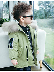 Boy Casual/Daily Solid Down & Cotton Padded,Rayon Winter Spring Fall Long Sleeve Long