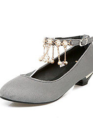 Women's Heels Spring Summer Comfort Leatherette Casual Low Heel Others Black Green Red Gray Walking