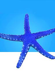 Aquarium Decoration Artificial Star Resin Random Colors 3pcs