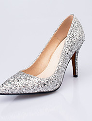 Women's Heels Spring Summer Fall Shoes & Matching Bags Glitter Wedding Party & Evening Casual Stiletto Heel Sequin Red Silver Gold