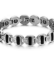 Armbänder Ketten- & Glieder-Armbänder Stahl Normal Schmuck Geschenk Silber,1 Stück