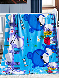 Coral fleece As per picture,Printed Cartoon Wool/Acrylic Blankets