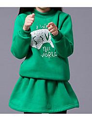 Girl Casual/Daily Solid Hoodie & Sweatshirt,Faux Fur All Seasons Spring