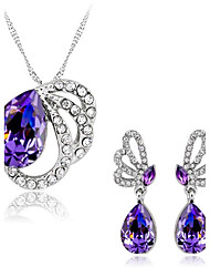 May Polly  Underwater butterfly Austria Crystal Necklace Earrings Set