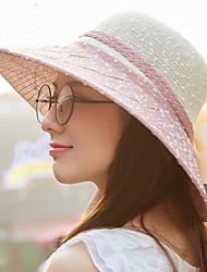 Ladies Summer Sun Hat Roses Large Straw Hat Outdoor Beach Sun Hat