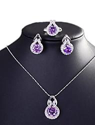 Бижутерия 1 ожерелье 1 пара сережек Кольца Halloween Повседневные Медь 1 комплект Женский Серебряный Свадебные подарки