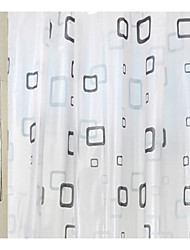 Contemporary Linen/Polyester Blend with High Quality Shower Curtains