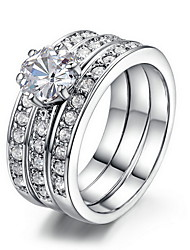 Ring Zircon Cubic Zirconia Alloy Luxury Jewelry Silver Jewelry Wedding Engagement Daily Casual 1pc