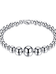 Silver Plated Sweet Buddha Beads Chain & Link Bracelets Christmas Gifts Jewellery for Women Accessiories