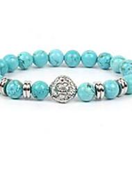 Men's Women's Strand Bracelet Beaded Agate Jewelry For Casual