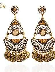 Drop Earrings Hoop Earrings Earrings Set Jewelry Women Party Casual Alloy Rhinestone 1 pair Gold