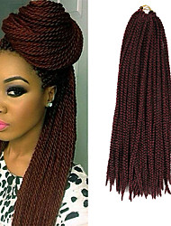 Box Braids Twist Braids Black With Burgundy Hair Braids 24Inch Kanekalon 90g Synthetic Hair Extensions