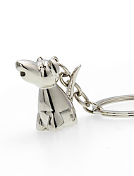 Metal keychain jewelry cartoon cute puppy car