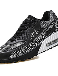Homme Chaussures d'Athlétisme Confort Synthétique Printemps Automne Décontracté Marche Confort Lacet Talon Plat Blanc Noir Rouge 5 à 7 cm