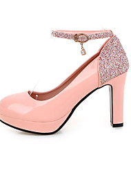 Women's Heels Spring Summer Fall Platform Shoes & Matching Bags Glitter Leatherette Office & Career Party & Evening Casual Chunky Heel