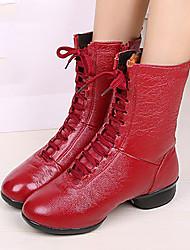 Sapatos de Dança(Preto Vermelho Branco) -Feminino-Não Personalizável-Moderna