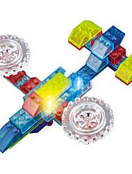 Iluminação de LED Kit Faça Você Mesmo Blocos de Construir para presente Blocos de Construir Modelo e Blocos de ConstruçãoAeronave Lutador