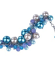 Women's Charm Bracelet Crystal Pearl Imitation Pearl Glass Alloy Fashion Light Blue Jewelry 1pc