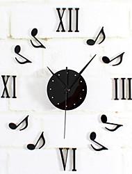 Moderno/Contemporáneo Retro Vacaciones Pastoral Inspirador Familia Dibujos Animados Reloj de pared,Redondo Novedad Metal 40Interior