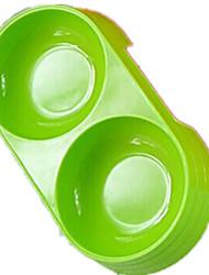 Chat Chien Bols & Bouteilles d'eau Animaux de Compagnie Bols & alimentation Portable Pliable Vert Bleu Orange Silicone
