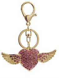 Fashion Angel Heart Diamond Keychain bag lady lovely creative decoration