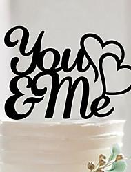 English letters acrylic wedding cake inserted beautiful birthday cake in cake decoration