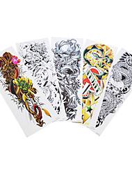 5pcs Animal Pattern Temporary Water Transfer Large Full Flower Arm Tattoo Sticker Body Art for Women Men